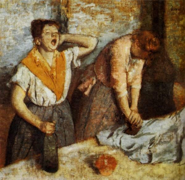 Woman Ironing 1884